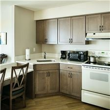 Full kitchen in Executive Suite